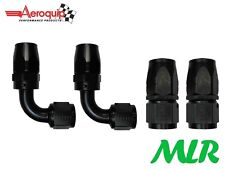 AEROQUIP AN -6 JIC STRAIGHT & 90° DEGREE OIL COOLER HOSE PIPE FITTING SET OF 4