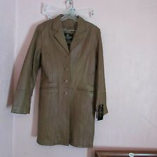 NEW~ WOMEN'S OSCAR PIEL 'PERFECT LEATHER' LIGHT BROWN LEATHER JACKET SIZE XL