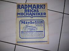 Oldtimer Fahrrad  Radmarkt Miele  Nr. 2355  11. Juli 1936