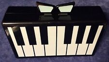 New LOVE BRAVERY Lady Gaga & Elton John Piano KEYBOARD Acrylic CLUTCH  Purse