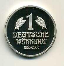 Medalla 50 años BRD Deutsches mark trozo 1 moneda alemana 1950 - 2000 m_163