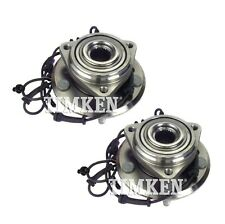 Pair Set of 2 Front Timken Wheel Bearing & Hub Kit for Jeep Wrangler 11-17 4WD