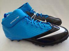 Nike Football Cleats Shoes Mens Size 17 Superbad Pro Lunarlon Blue Black 3/4 Top