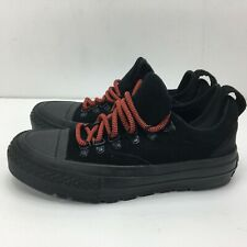 CONVERSE Chuck Taylor All Star Descent Ox Suede Shoes Black Youth Size 3