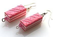 Handmade Luxury Pink Wafer Earrings With Genuine Swarovski Crystals