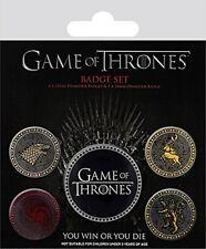 Spiel Von Thrones Die Vier Groß Häuser Set Mit 5 Abzeichen Set ( Py )