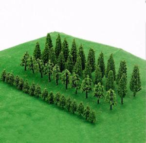 50X Trees Model Train Railroad Wargame Diorama Scenery Landscape Scale
