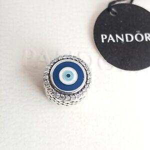 PANDORA Double Sided Blue Evil Eye Charm, S925 ALE #EG792016CZ New Authentic Box