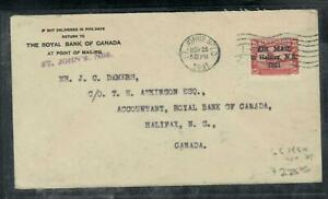 NEWFOUNDLAND COVER (P2112B)  HALIFAX A/M 35C SG 145A COVER TO HALIFAX