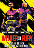 DEONTAY WILDER vs. TYSON FURY II Las Vegas MGM 2020 PHOTO Print POSTER Fight 001