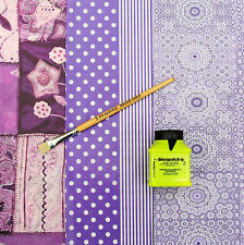 Decopatch Value Purple Paper Kit - includes glue and brush