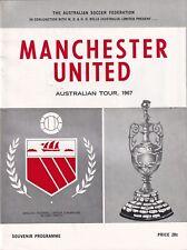 West Australia Manchester United 1967 Football Programme Australian Tour