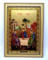 Ikone heilige Dreifaltigkeit geweiht икона Святая троица освящена 33x23x1,5 cm