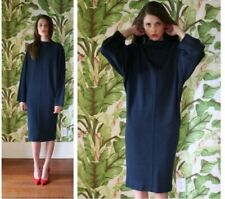 Alaia Navy Blue Wool Dress Size Small Long Bodycon  Casual Long Sleeve