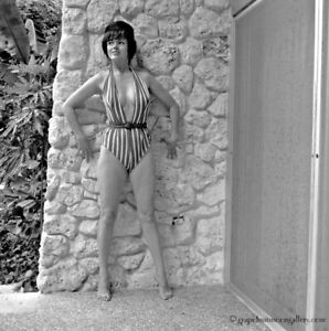 Bunny Yeager Estate 1960 Camera Negative Photograph Self Portrait One Piece Hot!