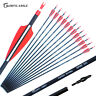 """Archery Carbon Arrows 28"""" 30"""" 31"""" Spine 500 Compound Recurve Bow Longbow Hunting"""