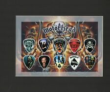 Motorhead Matted Picture Guitar Pick Set Nothing Else Matters The Trooper Lemmy