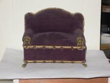 """Nachlass:  1 alte wunderschöne Couch /Sofa für die Puppenstube """" um 1900"""