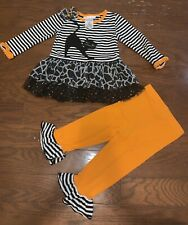 Bonnie Baby Halloween Black Cat Outfit, Size 18M