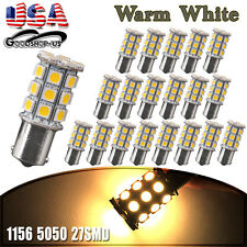 20x White 1156 27-SMD RV Camper Trailer Interior LED Light Bulbs 7506 1141 4300K