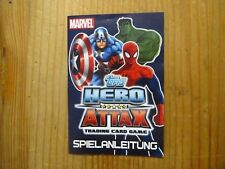 10x Marvel Topps Hero Attax Trading Card Game Karten 2010 mit 2x Anleitung