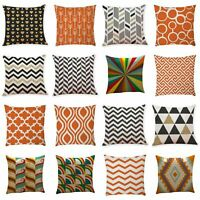 Square Throw Cotton Waist Geometric Pillow Cover Case Sofa Cushion Home Decor