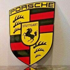 New ListingPorsche Porcelain Gas Germany Stuttgart Dealership Service Sales Sign