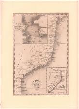 MAP OF BRAZIL & RIO DE JANEIRO by Constable, MATTED, ORIGINAL 1803