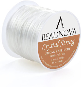 Pony Beads Bracelets and Jewelry Making Anezus Elastic String Jewelry Bead Cord with 2pcs Large Eye Beading Needles for Seed Beads Stretchy String for Bracelets