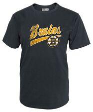 Brand New Boston Bruins T-shirt Shirt Knights Apparel Size Large Charcoal NHL