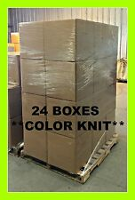 PALLET COLORED T-SHIRT RAGS (25 LB) 24 BOXES - 600 LBs - FREE SHIPPING!!!! USA
