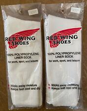 NEW Vintage Red Wing Shoes Liner Socks Men's Size 9-12 2 Packs Sealed USA Made