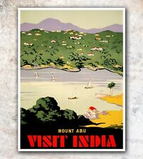 "India Art Vintage Travel Poster Print 12x16"" Rare Hot New A606"