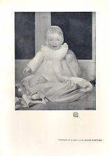1905 VICTORIAN STUDIO PRINT ~ PORTRAIT OF A LADY by W. GRAHAM ROBERTSON