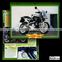 #097.04 Fiche Moto BUELL 1200 X1 WHITE LIGHTNING 2002 Roadster Motorcycle Card