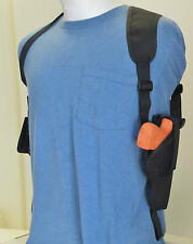 Vertical Carry Gun Shoulder Holster for RUGER SR45 PISTOL with Extra Mag Pouch