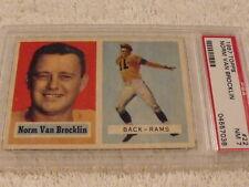 1957 TOPPS #22 NORM VAN BROCKLIN Los Angeles Rams - PSA 7 NM