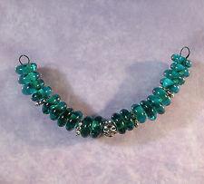 LGL- Handmade Lampwork Spacer Beads - TEAL - SRA - DIY Loose Craft & Jewelry