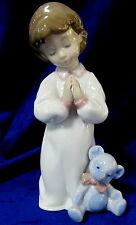 LLADRO #6581 NIGHTIME BLESSINGS BNIB GIRL TEDDY BEAR RARE $145 OFF FREE SHIPPING