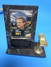 RUSTY WALLACE RACING PLAQUE, NEXTEL CUP SERIES, WITH PICTURE AND CAR.