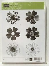 Stampin Up FLOWER SHOP clear mount stamps pansy