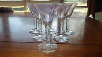 Vintage Cordial/Liqueur Glasses Iridescent Optic Panel Stems by Morgantown glass
