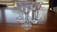 Vintage Cordial/Liqueur Glasses Iridescent Optic Panel Stems by Morgantown glass
