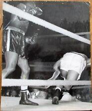 Boxing 1950s Press Photograph: Archie Moore KO German Champion-Light Heavyweight