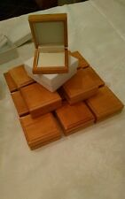 Lot of 20 wooden earring/pendant boxes