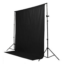 6 x 9ft Black Screen Muslin Photo Studio Photography Backdrop Background Cotton