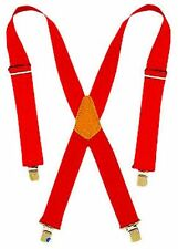 NEW CLC MODEL 110RED RED NYLON EXTRA WIDE HEAVY DUTY WORK SUSPENDERS 1514967
