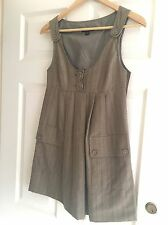 Cue Pinafore Dress 6, (Fits 8-10) Details, Great With Shirt Or Knit