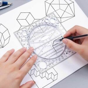 Ruler Geometric Drawing Template Springhall Angle Multifunctional Drawing Ruler