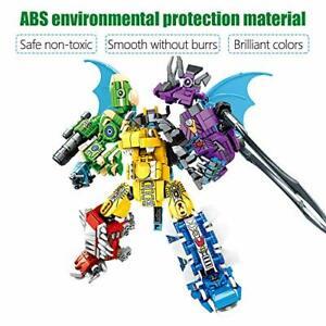 6in1 Transformation Robot Model Building Blocks sets Dinosaur Toys Bricks 649pcs